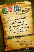 Portada de LA SOCIEDAD LITERARIA Y EL PASTEL DE PIEL DE PATATA DE GUERNSEY