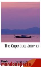 Portada de THE CAPE LAW JOURNAL