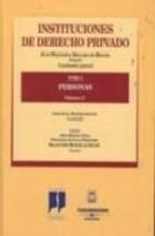 Portada de INSTITUCIONES DE DERECHO PRIVADO. TOMO I. PERSONAS, VOLUMEN 3º