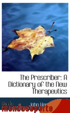 Portada de THE PRESCRIBER: A DICTIONARY OF THE NEW THERAPEUTICS