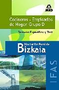 Portada de COCINEROS EMPLEADOS HOGAR DE LA DIPUTACION FORAL DE BIZKAIA: TEMARIO Y TEST ESPECIFICO