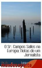 Portada de O SR. CAMPOS SALLES NA EUROPA: NOTAS DE UM JORNALISTA