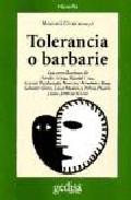 Portada de TOLERANCIA O BARBARIE