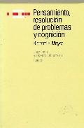 Portada de PENSAMIENTO, RESOLUCION DE PROBLEMAS Y COGNICION