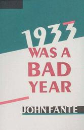 Portada de 1933 WAS A BAD YEAR