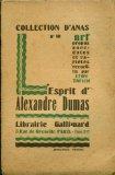 Portada de L'ESPRIT D'ALEXANDRE DUMAS
