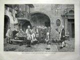 Portada de ANTIGUO GRABADO - OLD GRAVURE: JOSÉ II VISITANDO EL CUARTEL DE INVÁLIDOS EN SU NIÑEZ, CUADRO POR G.HACKL