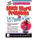 Portada de [MATH WORD PROBLEMS IN 15 MINUTES A DAY] [BY: LEARNING EXPRESS LLC]