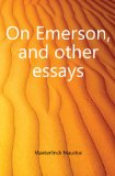 Portada de ON EMERSON, AND OTHER ESSAYS