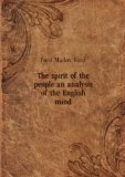 Portada de THE SPIRIT OF THE PEOPLE AN ANALYSIS OF THE ENGLISH MIND. 2