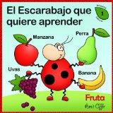 Portada de DICCIONARIO PARA NIÑOS: FRUTAS (ESPAÑOL PARA LOS NIÑOS)