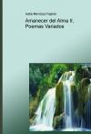 Portada de AMANECER DEL ALMA II, POEMAS VARIADOS