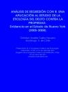 Portada de ANÁLISIS DE REGRESIÓN CON R: UNA APLICACIÓN AL ESTUDIO DE LA ETIOLOGÍA DEL DELITO CONTRA LA PROPIEDAD. EVIDENCIA EN EL ESTADO DE NUEVA YORK 20052008