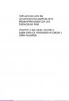 Portada de INSTRUCCIONES PARA LAS CONCENTRACIONES PACÍFICAS DE LA SPANISHREVOLUTION POR UNA DEMOCRACIAR REAL