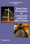 Portada de DERECHO PENAL PARTE ESPECIAL Y LAS CONSECUENCIAS JURÍDICAS DEL DELITO EN ESPAÑA