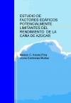 Portada de ESTUDIO DE FACTORES EDÁFICOS POTENCIALMENTE LIMITANTES DEL RENDIMIENTO  DE LA CAÑA DE AZÚCAR