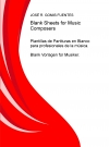 Portada de BLANK SHEETS FOR MUSIC COMPOSERS